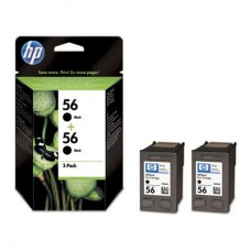 2-pack HP 56 crna tinta