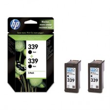 2-pack HP 339 crna tinta