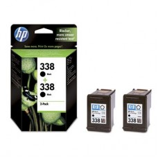 2-pack HP 338 crna tinta